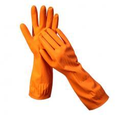 Перчатки «ЛОТОС» хозяйственные латексные с ХБ напылением
